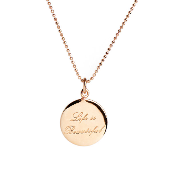 bfff5b110 Life Is Beautiful' Rose Gold Necklace – HomebyRachel