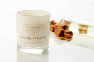 scented candle representing scent layering